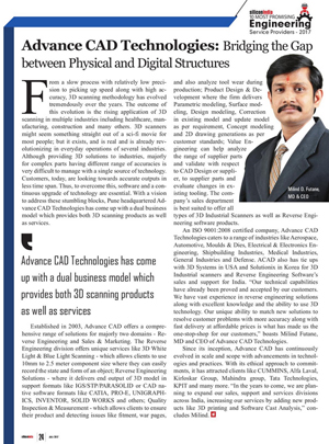 Acad Technologies in Silicon India Magazine